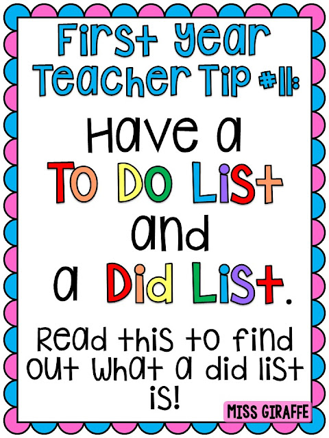 Check out this to teacher do list AND did list and how they're both used to feel productive and happy!