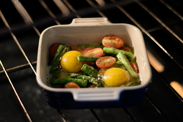 Italian Style Baked Eggs and Asparagus Recipe - ~The Kitchen Wife~