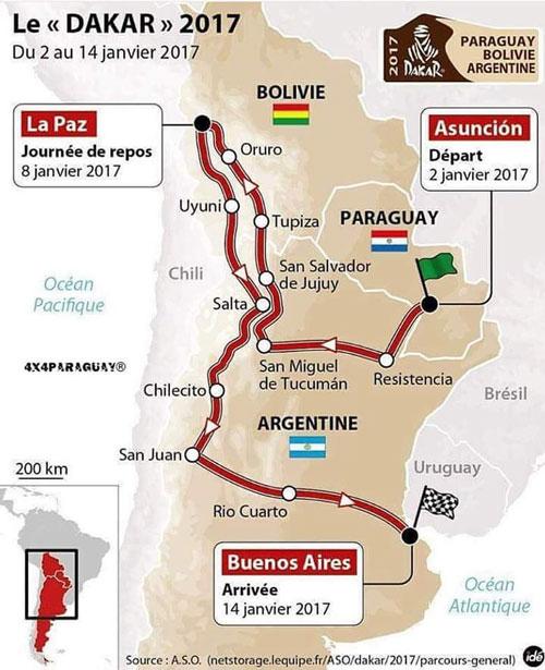 El Dakar 2017 ingresará por Villazón el 5 de enero