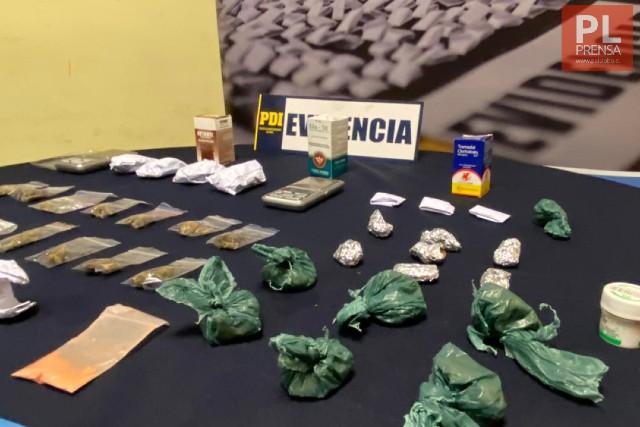 """PDI detiene a sujetos con """"delivery"""" de drogas en Puerto Montt"""