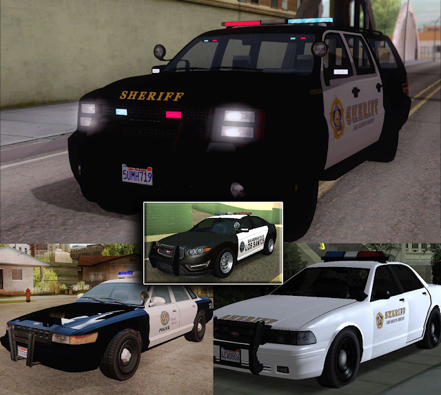 GTA V Police Skin And Cars Mod Pack For GTA San Pc