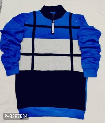 Men's Cotton Self Pattern Long Sleeves Sweatshirt Just 489₹ (Offer Valid for today)