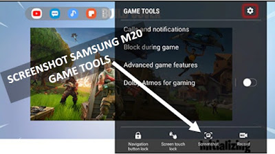 cara screen capture samsung m20