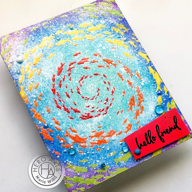 Cardbomb, Maria Willis, Hero Arts, #mymonthyhero, #stamp, #ink, #paper, #papercraft, #craft, #create, #card, #cardmaking, #handmade, #watercolor, ocean,