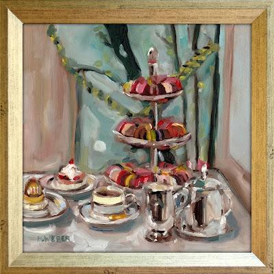 afternoon-tea-paris-oil-painting-merrill-weber