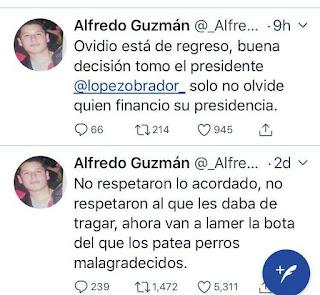 Cuenta de Twitter de Alfredo Guzmán