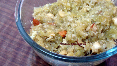 Indian tradishonal sweet doodhi ka halwa