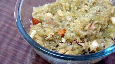 Indian tradishonal sweet doodhi ka halwa