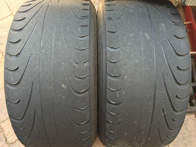 Used and abused AVON CR500 rear tyres