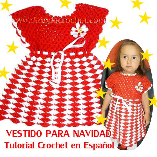 como-tejer-vestido-nena-crochet-navidad