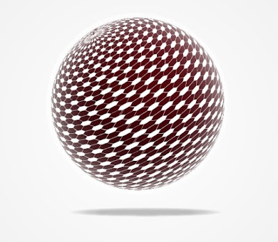 Spherical Tesseract Shape in Adobe Illustrator