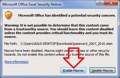 Remove Password Microsoft Office Excel