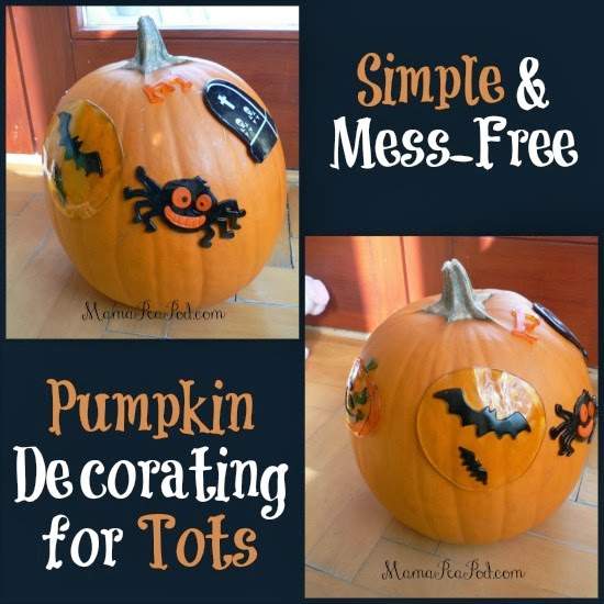 Pumpkin Decorating Toddlers Gel Stickers