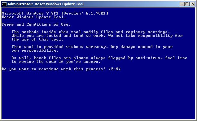 حل معظم مشاكل الويندوز ومشكلة تحديث الويندوز مع أداة Reset Windows Update