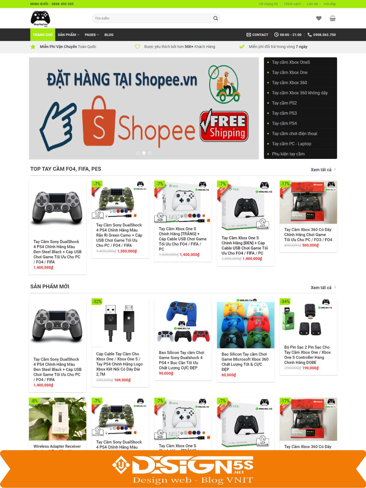 Mẫu Website bán hàng cao cấp ShopTayCam - Ảnh 1