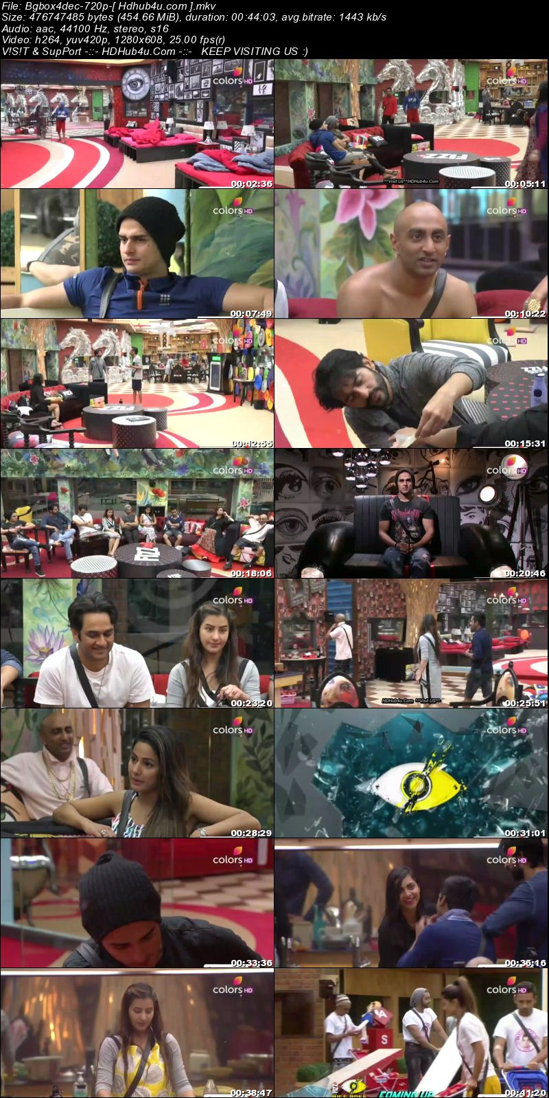 Bigg Boss S11E65 4th December 2017 HDTV 480p 200MB Download