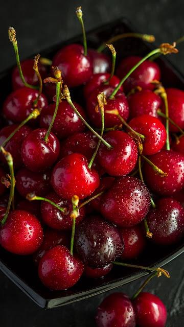 Cerejas Fruta Rica em Nutrientes Antioxidantes