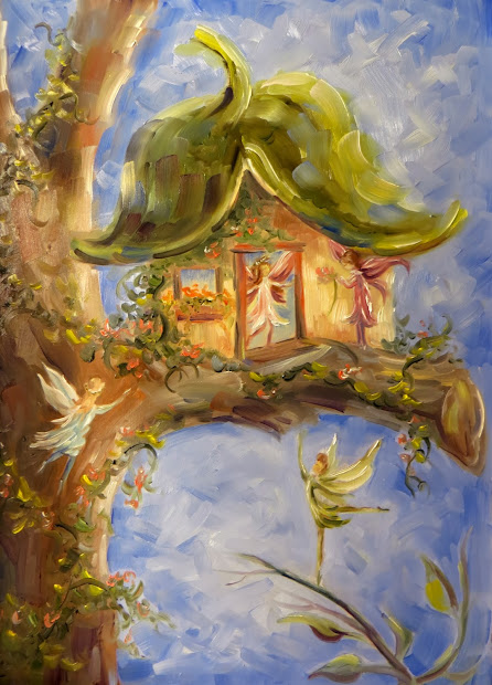 Painting Fairy Houses