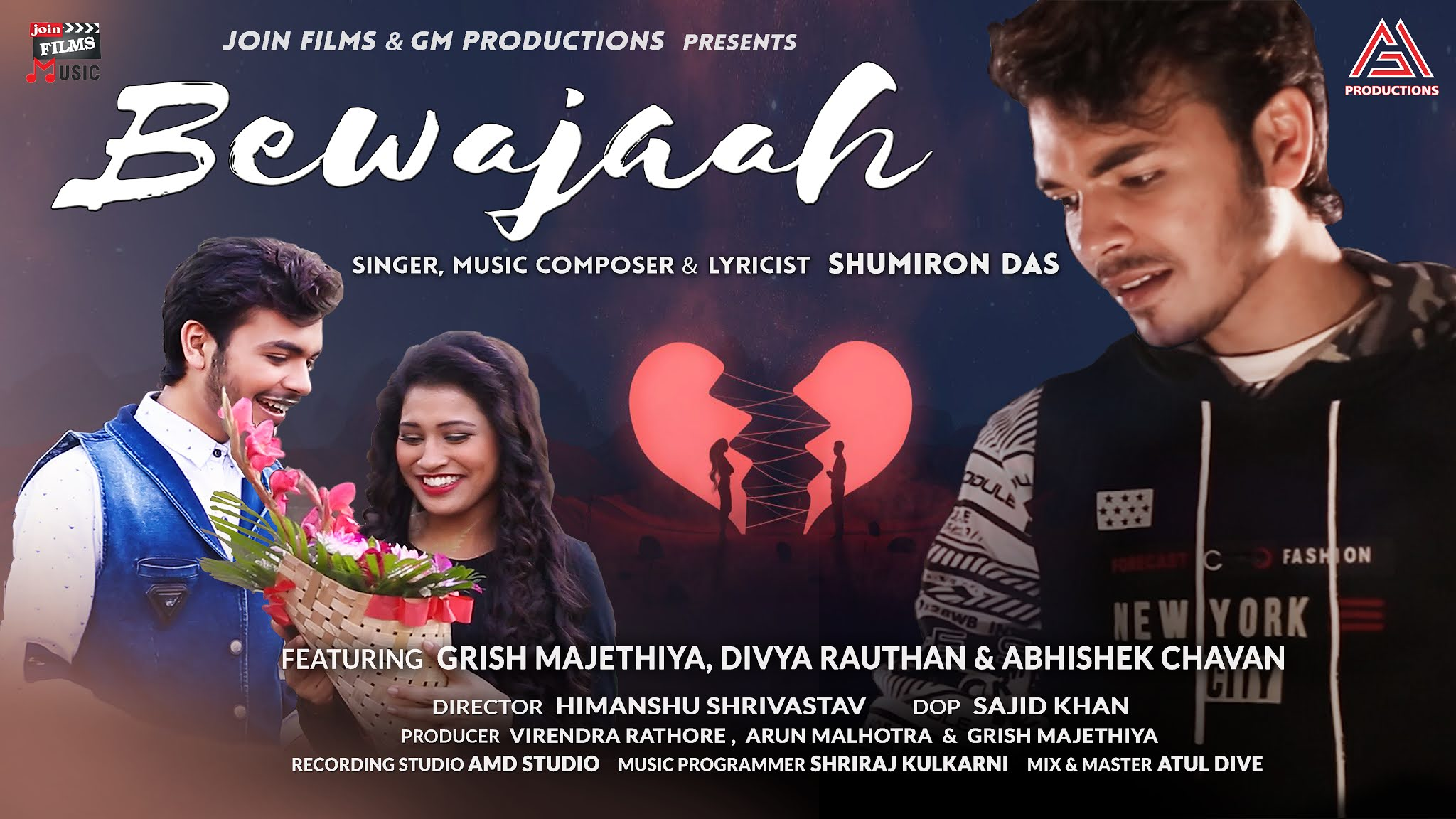 Bewajaah-Song-Shumiron-Das's-First-Original-Song-Bewajaah-Released-featuring-actor-Grish-Majethiya