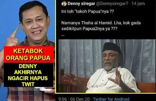 DIHAJAR Langsung Orang Papua, Denny Siregar Ngacir Terbirit-birit Hapus Twitnya