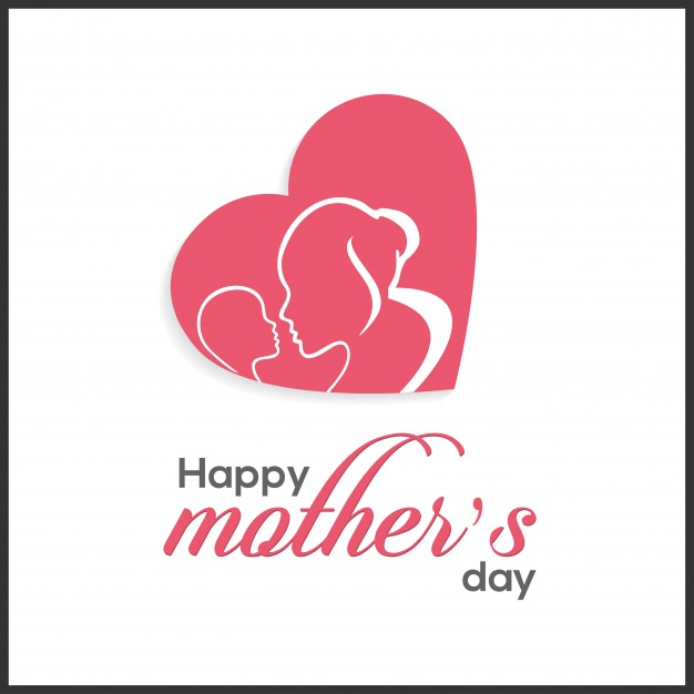 Cute mother's day lettering illustration Free Vector