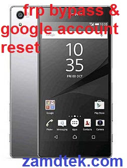 Sony Xperia Z5 E6653 Premium Dual Chrome frp bypass and google account reset