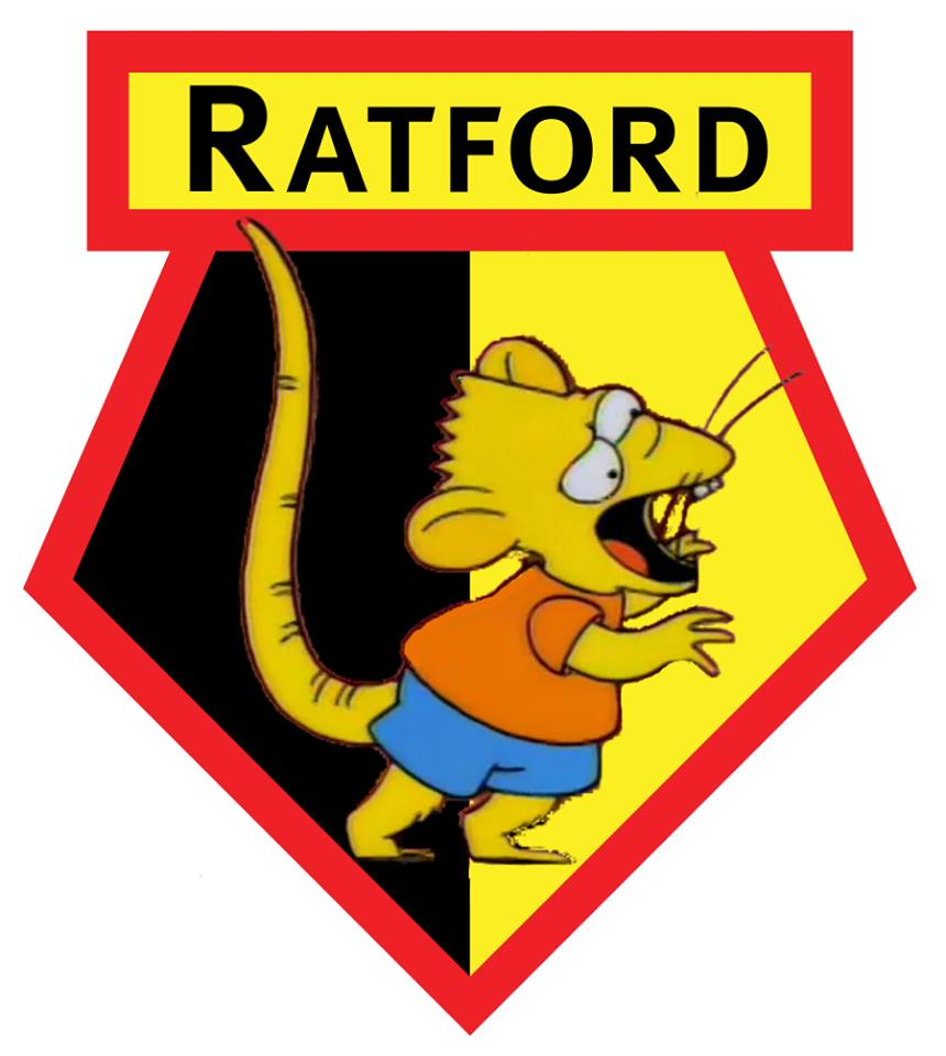 The Simpsons' version logo of Watford
