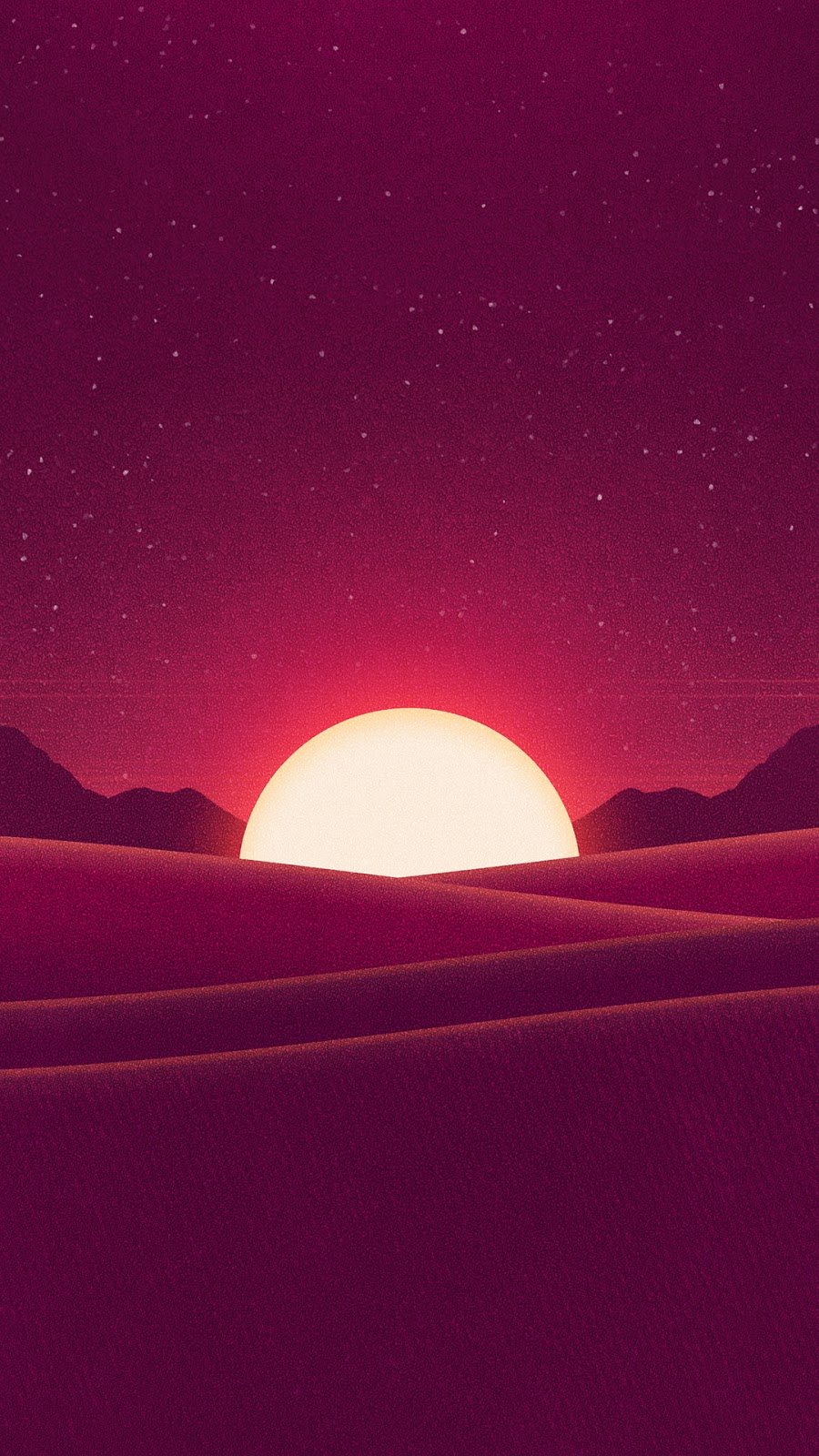 Sunset minimal wallpaper