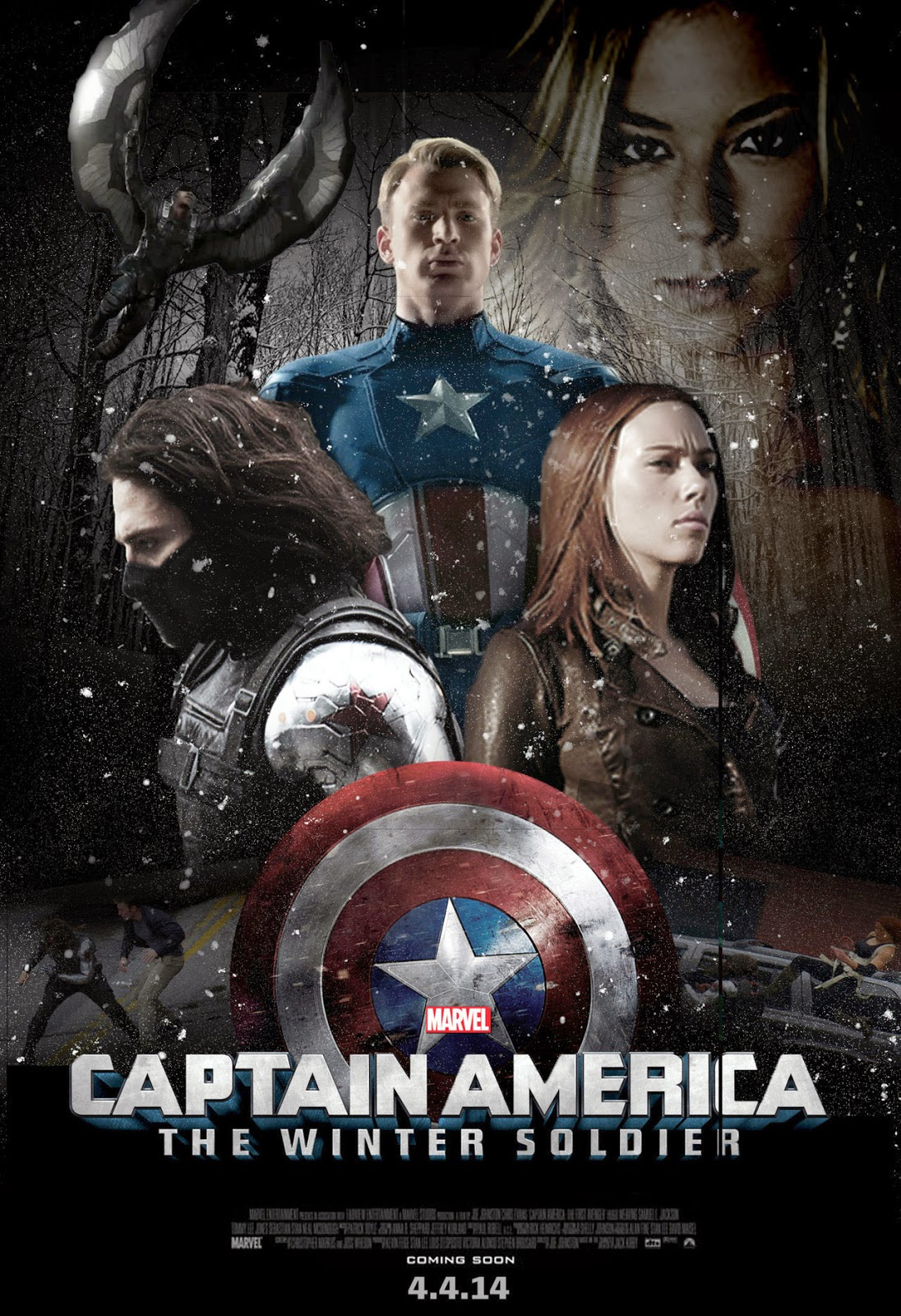 Captain america the winter soldier 2014 r1 custom | dvd covers.