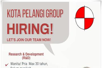 Lowongan Kerja Research & Development Kota Pelangi Group