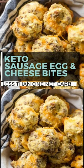 Sausage Egg and Cheese Bites