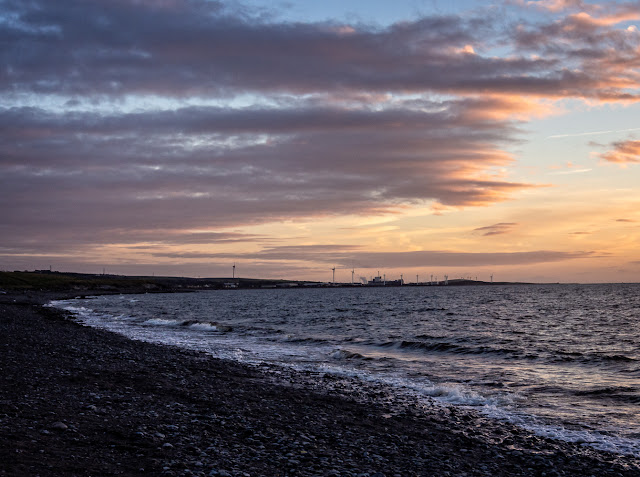 Photo of Maryport shore at sunset