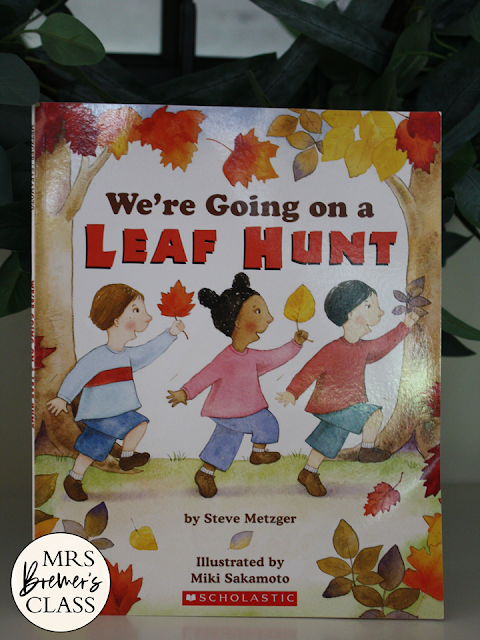 We're Going on a Leaf Hunt book study activities unit with fall literacy Common Core companion activities and a craftivity for Kindergarten and First Grade