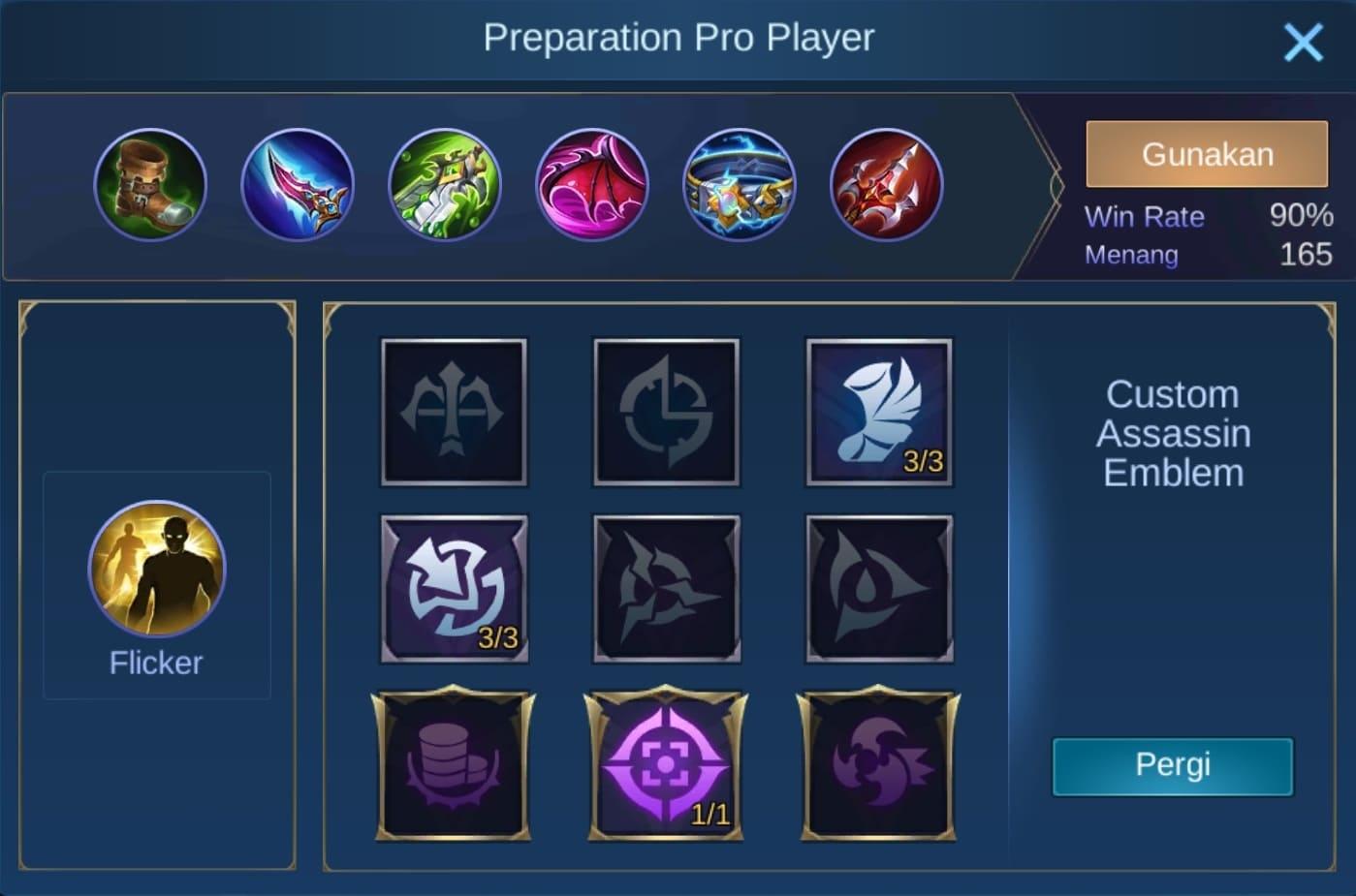 build item minsitthar mobile legends (ML)