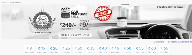 Droom offers get car perfume