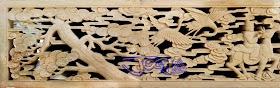 Roster / Loster gambar motif Delapan Dewa dari batu alam putih