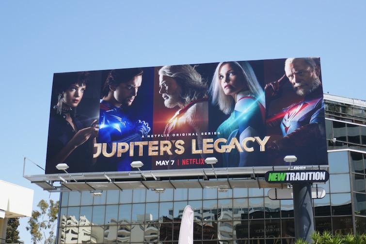 Jupiters Legacy series premiere billboard
