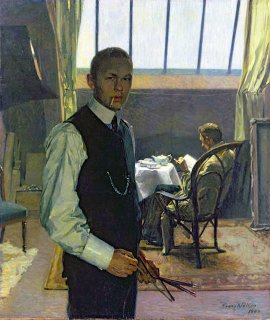 Franz Nolken, Self Portrait, Portraits of Painters, Fine arts, Portraits of painters blog, Paintings of Franz Nolken, Painter Franz Nolken