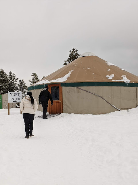 yurt at the Frisco Adventure Park for tubing