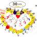 30 Piezas emoji Llavero Cadena de emoticonos