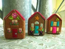 felt miniature houses