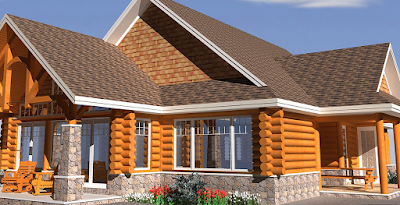 Wooden House Design 3D
