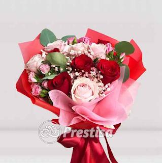 Buket Bunga Mawar Prestisa