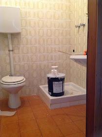 Le cose di bibbi coprire le piastrelle del bagno - Verniciare le piastrelle del bagno ...