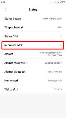 Cara Cek IMEI HP Xiaomi 3