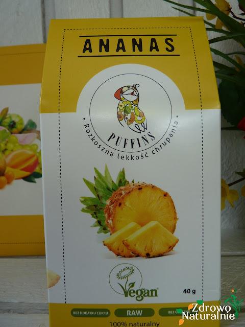 Puffins - Przyjemność chrupania - Ananas