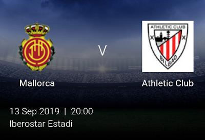 LIVE MATCH: Mallorca Vs Athletic Club Spanish LaLiga 13/09/2019