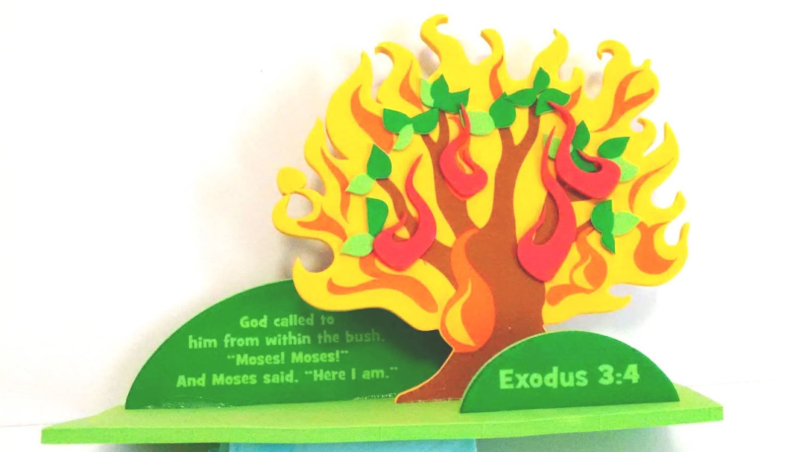 Moses And The Burning Bush Preschool Craft