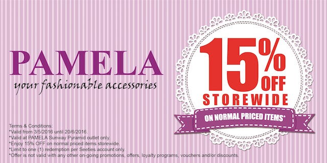 Pamela (Enjoy 15% OFF on Normal Priced Items Store wide)