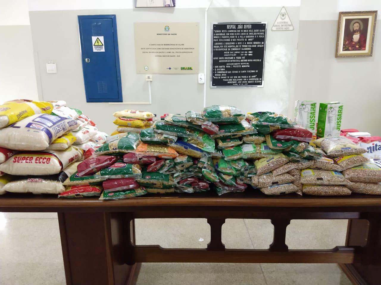 Jogo beneficente em Cajobi arrecada mais de 100kg em alimentos para a Santa Casa